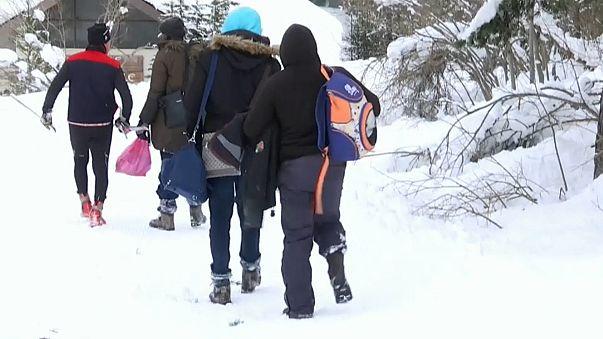 I migranti sulla neve