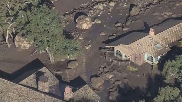 Californie : des images impressionnantes de la coulée de boue