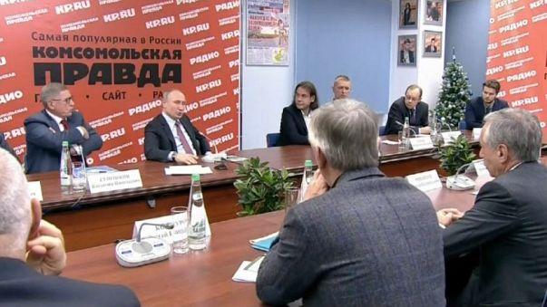 """Putin: """"Nessuna interferenza russa nelle elezioni italiane"""""""