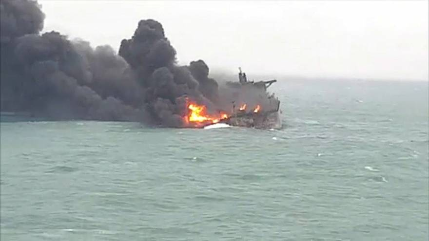 Families' anguish as Iran tanker burns