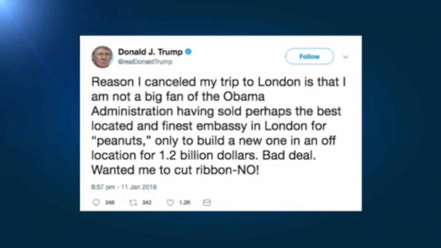 Trump lemondta londoni útját