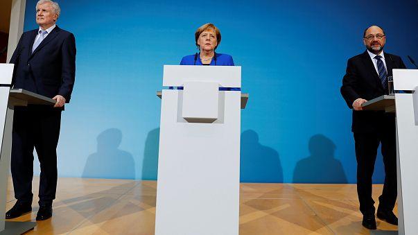 """Nach """"turbulenten Gesprächen"""": GroKo-Sondierer stellen Ergebnisse vor"""