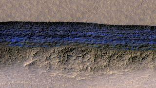 Eisschichten auf dem Mars - NASA Grafik