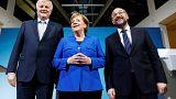 Horst Seehofer, Angela Merkel e Martin Schulz