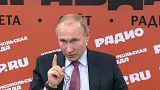 Il presidente della Federazione Russa Vladimir Putin durante un incontro co