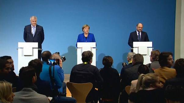 Merkel y Schulz llegan a un principio de acuerdo para otra gran coalición