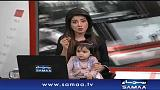 Una presentadora de TV pakistaní lleva a a su hija al set en protesta