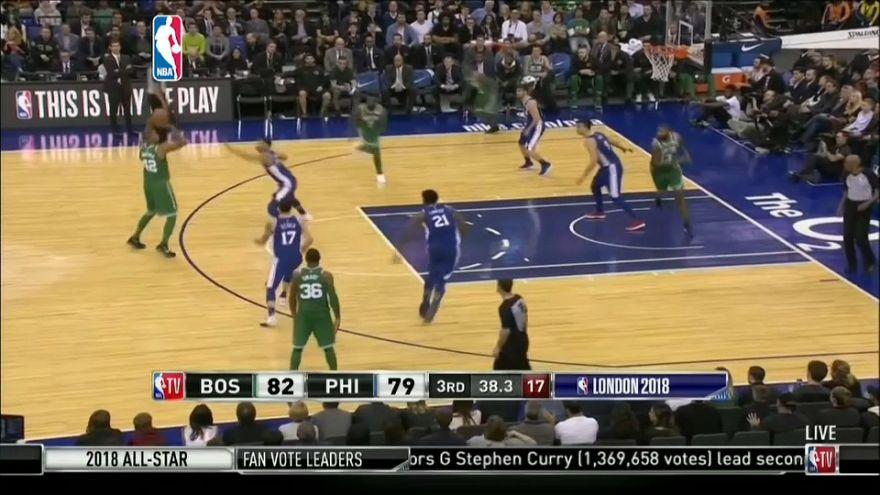Sobresaliente triunfo de los Celtics ante los Sixers en la 'noche europea' de la NBA