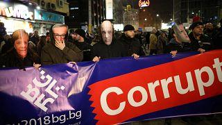 Manifestação anti-corrupção em Sófia
