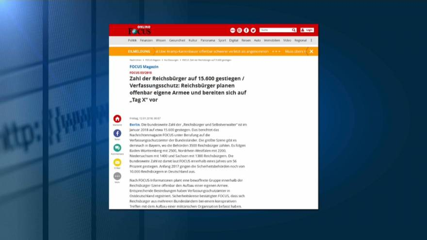 """15.600 Reichsbürger? Immer mehr glauben offenbar an das """"Deutsche Reich"""""""