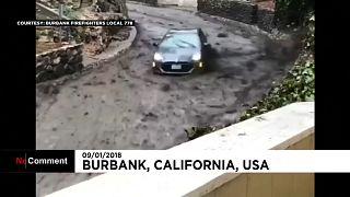 California: le impressionanti immagini della valanga di fango