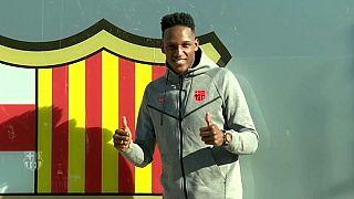 Yerri Mina se prepara para hacer historia con el FC Barcelona