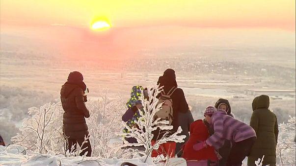 Sonnenaufgang in Murmansk