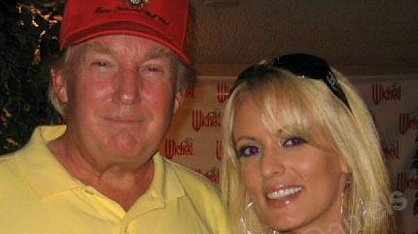 Donald Trump with Stephanie Clifford, whose stage name is Stormy Daniels