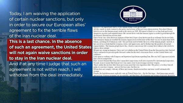 Donald Trump amenaza con retirarse del acuerdo nuclear con Irán