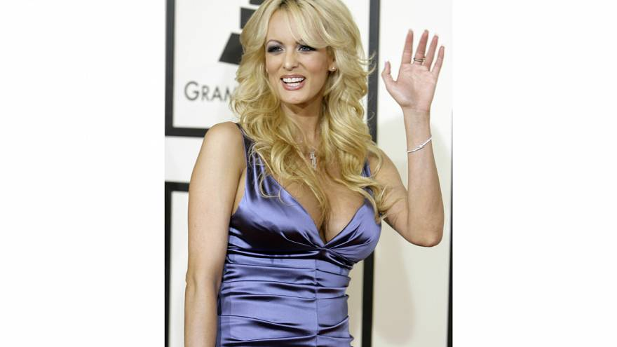 Adult film star Stormy Daniels arrives at 50th Grammy Awards in Los Angeles
