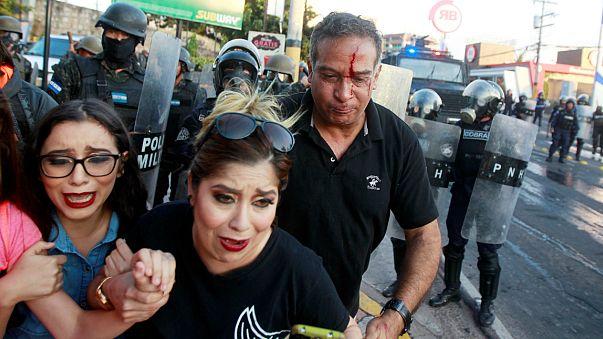 Mais de 20 feridos em confrontos nas Honduras