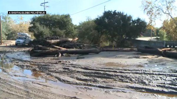 Hatalmas a sár pusztítása Kaliforniában