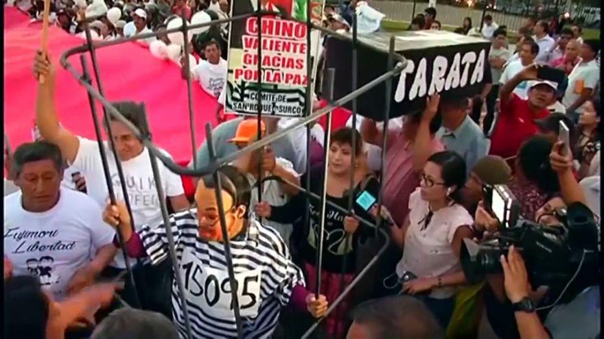Fujimori supporters rally in Peru