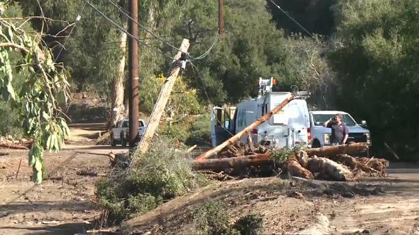 Kaliforniya'da heyelan sonrası kayıplar aranıyor