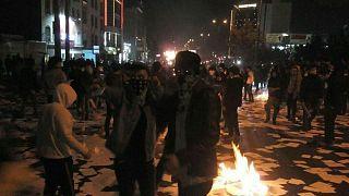 People protest in Tehran, Iran December 30, 2017