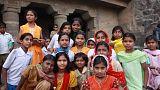 Ajanta, school children
