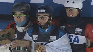 درخشش ورزشکاران روسیه و چین در مسابقه اسکی پرش فری استایل آمریکا