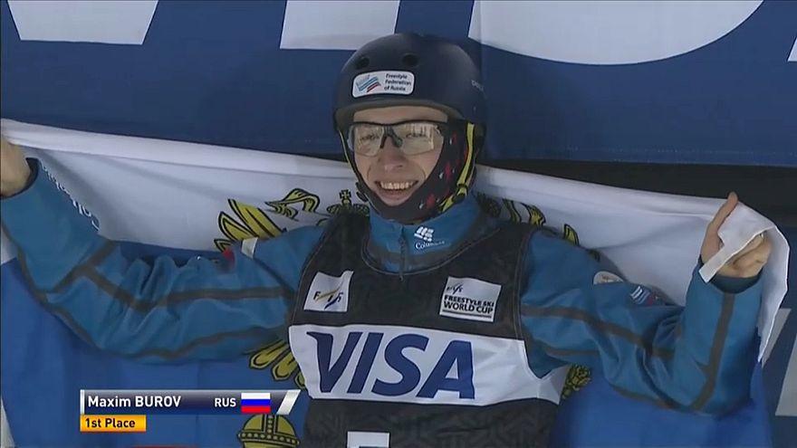 Кубок мира по лыжной акробатике: Буров выбился в лидеры