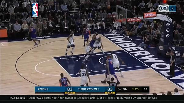 "НБА: ""Тимбервулвз"" одолели ""Никс"""