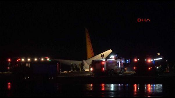 Un Boeing se sale de pista en Turquía