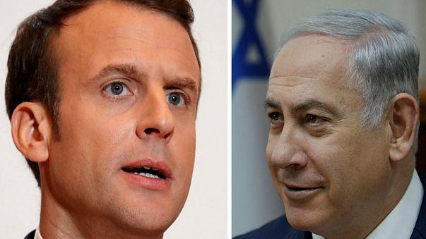 بنیامین نتانیاهو و امانوئل ماکرون