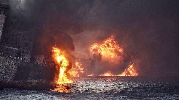 Le pétrolier iranien en flammes a coulé