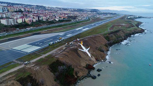 Megdöbbentő felvételek a kisiklott repülőről