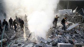Şam'ın farklı noktalarına hava saldırısı
