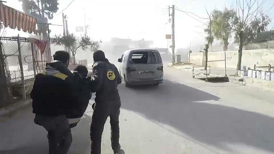 Luftangriff auf Duma östlich von Damaskus