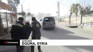 Минометные обстрелы близ Дамаска