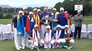 Golf : l'Europe renverse l'Asie