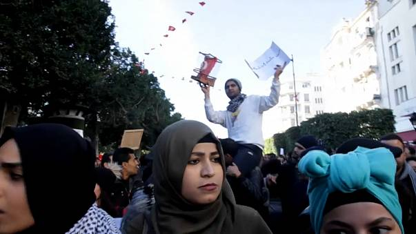 Hundreds attend anti-austerity protests in Tunisia