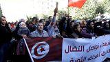 Protestos marcam os sete anos da Primavera Árabe, em Tunes