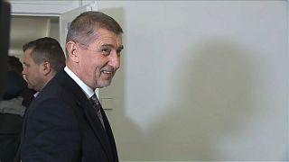 Andrej Babis casts his vote