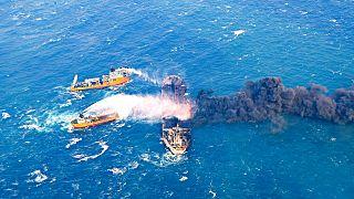 Çin Denizi'nde batan İran'a ait tankerden kurtulan olmadı