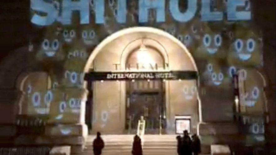 """Künstler machen Trump-Hotel zum """"Shithole"""""""