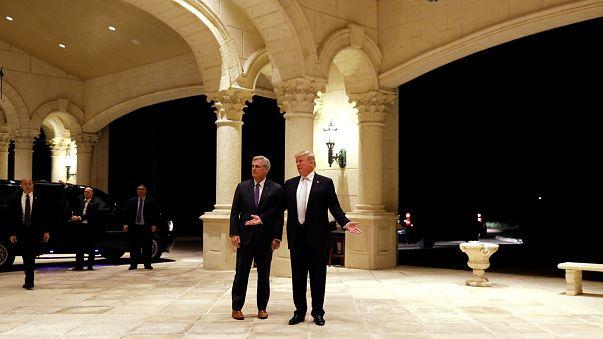 Trump bei der Ankunft in dem Golfclub