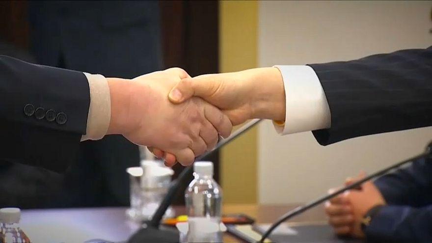 Koreas testen in Panmunjom eine neue Normalität