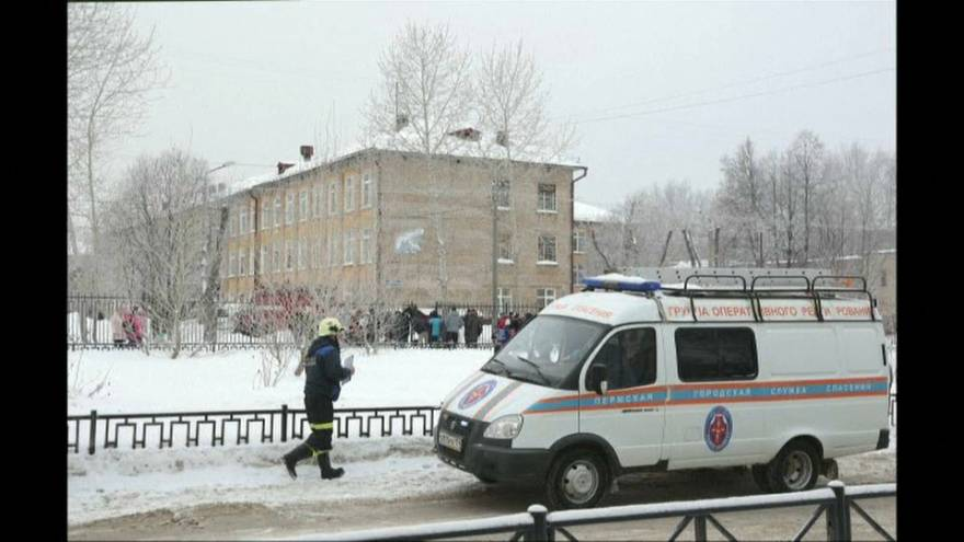 Diez niños y una profesora heridos en el ataque a un colegio ruso