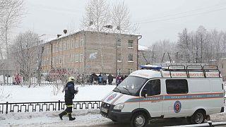 School stabbing injures teacher, 20 students in Perm, Russia