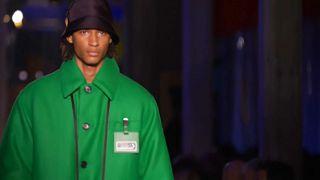 A model on the Prada catwalk