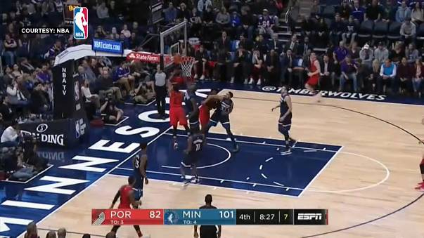 NBA: Minnesota Timberwolves defeat Portland Trail Blazers