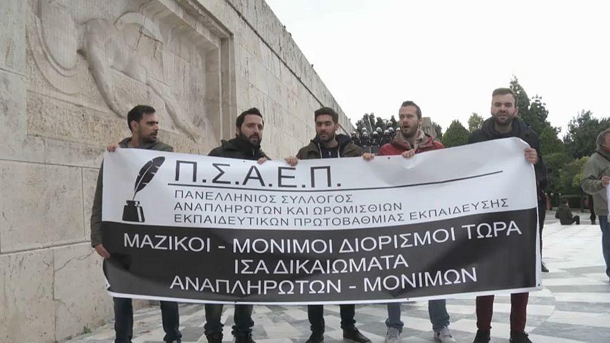 Greve e protestos em Atenas