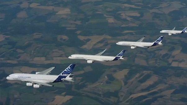 Airbus 2017'de teslimat hedefini aştı